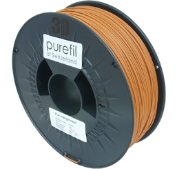 purefil of Switzerland - PLA - Filament - Orangebraun - 1.75mm - 1kg