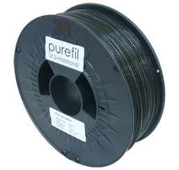 purefil of Switzerland - PLA - Filament - Schwarz - 1.75mm - 1kg