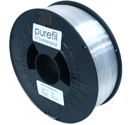 purefil of Switzerland PETG - Filament - Transparent - 1.75mm - 1kg