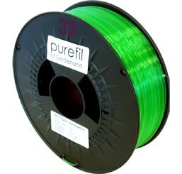 purefil of Switzerland PETG - Filament - Grün Transparent - 1.75mm - 1kg