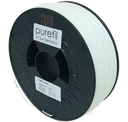 purefil of Switzerland ABS - Filament - Weiss - 1.75mm - 1kg