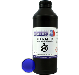 Monocure 3D Rapid Resin - 1000 ml - Blau - Transparent