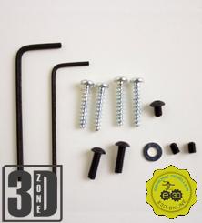 E3D v6 Befestigungskit - Schrauben und Schlüssel
