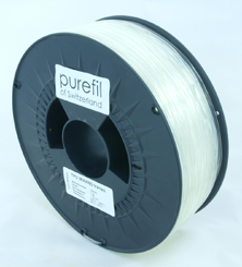 purefil of Switzerland - TPU - Flex Filament 98A/65D - Transparent - 1.75mm - 1kg