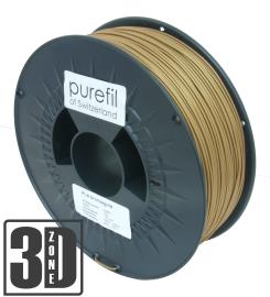 purefil of Switzerland PLA - Filament - Bronzegold - 1.75mm - 1kg